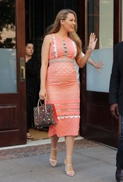 Blake Lively gave us serious bag envy when she sported this Christian Louboutin Paloma patch tote.