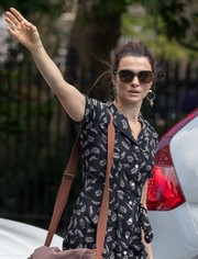 Rachel Weisz stepped out in New York City wearing a chic pair of angular shades.
