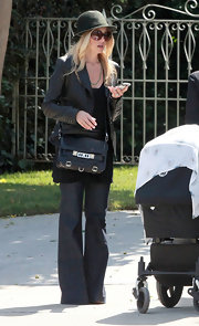 Rachel Zoe went for a stroll in Beverly Hills carrying a black python PS11 shoulder bag.