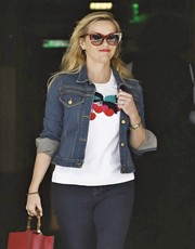 Reese Witherspoon was retro-chic in her red and gold Thierry Lasry cateye sunnies while out in Beverly Hills.