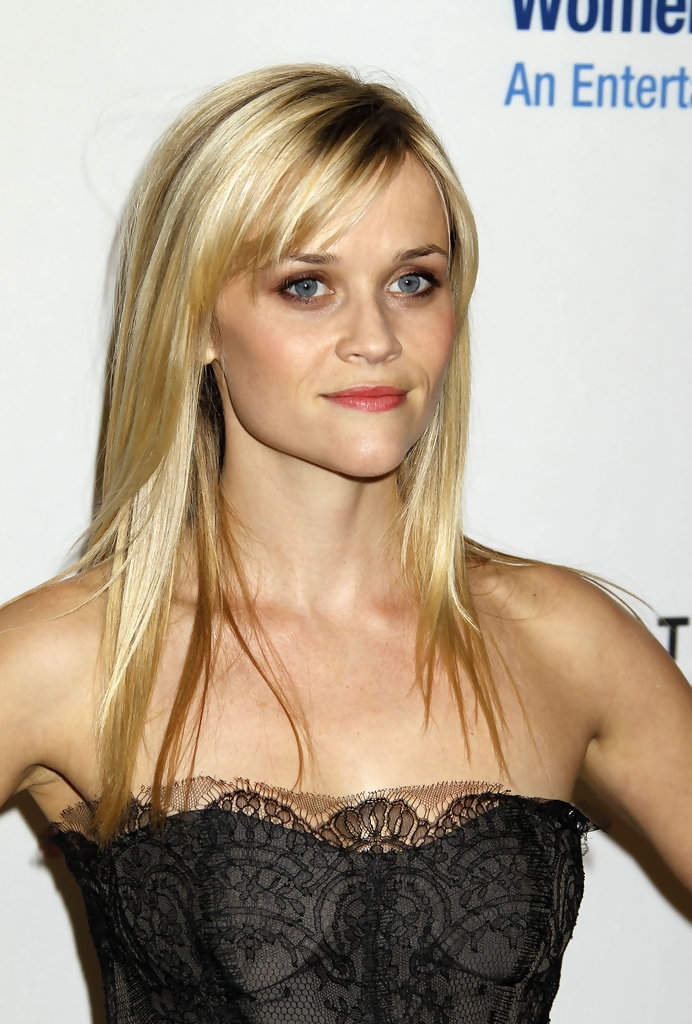 Long Straight Cut with Bangs Reese Witherspoon Long Hairstyles