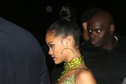 Rihanna Beaded Hoops