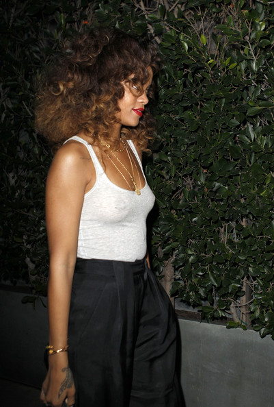 More Pics of Rihanna Long Curls (1 of 6) - Rihanna Lookbook - StyleBistro