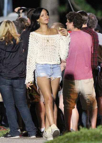 Rihanna Denim Shorts