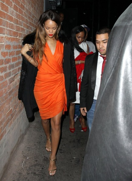 Wear Brights with Black Like Rihanna