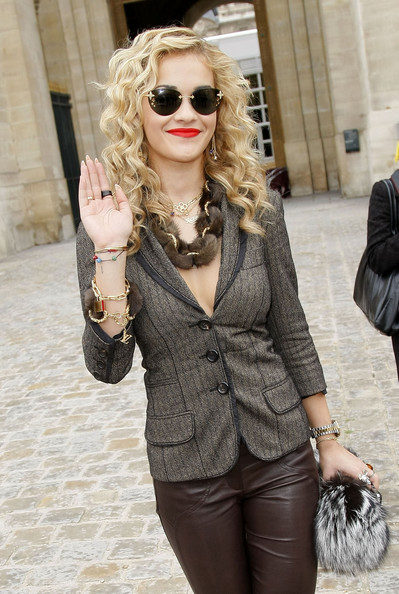 Rita Ora Rimless Sunglasses