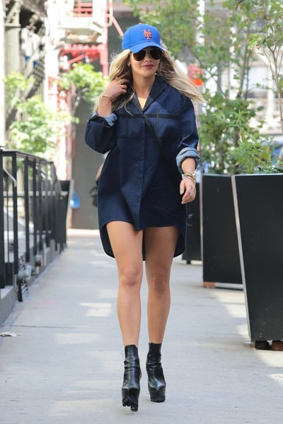 Rita Ora Denim Shirt