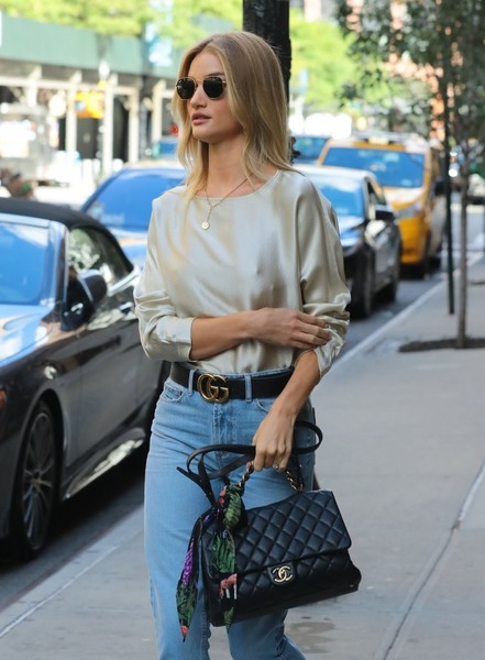 More Pics of Rosie Huntington-Whiteley Leather Belt (4 of 20) - Belts Lookbook - StyleBistro []