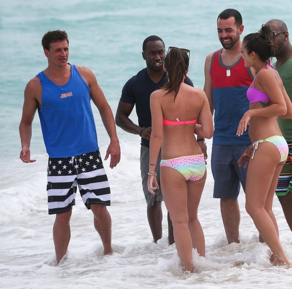 Ryan Lochte Films His Reality Show in Miami 4