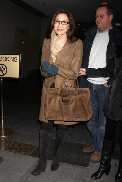 More Pics of Michelle Yeoh Wool Coat (1 of 4) - Michelle Yeoh Lookbook - StyleBistro