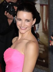 Kristin Davis showed off her elegant classic bun which was the perfect 'do for her strapless dress.