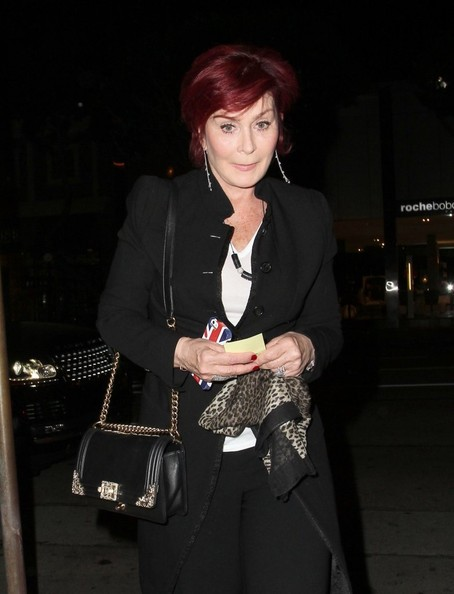 Sharon Osbourne Leather Shoulder Bag