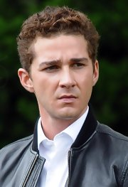 Shia LaBeouf sported short curls while filming 'Wall Street 2.'