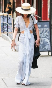 Vanessa Hudgens looked boho on the bottom half in her Flynn Skye maxi skirt.