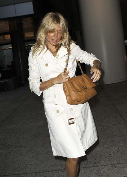 Sienna Miller Leather Messenger Bag