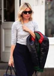 Sienna Miller went retro with these cateye sunnies for a day out in New York City.