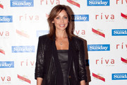 Natalie Imbruglia Wears a Leather Blazer