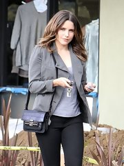 Sophia toted a perfectly sized embossed handbag with her casual outfit while out in Hollywood.