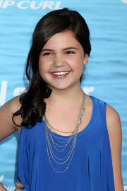 Bailee Madison added a layered necklace to her simple ensemble at the 'Soul Surfer' premiere.
