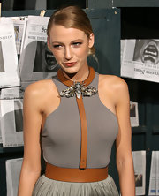 Blake Lively showed off a Spring 2011 statement necklace, while walking the red carpet at the Spike TV's Scream Awards.