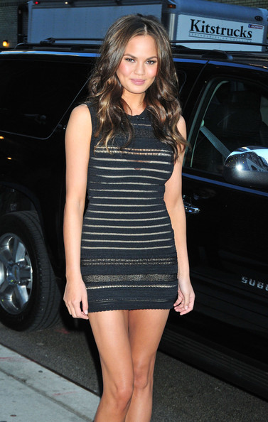 More Pics of Chrissy Teigen Bandage Dress (1 of 2) - Chrissy Teigen Lookbook - StyleBistro