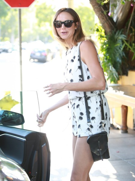 Stacy Keibler Leather Shoulder Bag