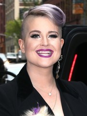 Kelly Osbourne turned heads with her sculpted lavender fauxhawk while headed to 'Watch What Happens Live.'