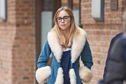 Suki Waterhouse Fur Coat