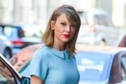 Singer Taylor Swift is spotted out and about in New York City, New York on April 18, 2015. An insider in Taylor's camp has said that Taylor loves current boyfriend Calvin Harris more then she loved any of her other A-list boyfriends.