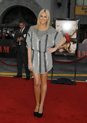 Stephanie Pratt showed off her sequin dress while hitting the A Team premiere.