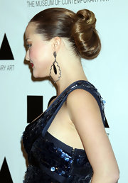 Devon Aoki swept back her hair into a glamorous exaggerated chignon for 2011 MOCA Gala.