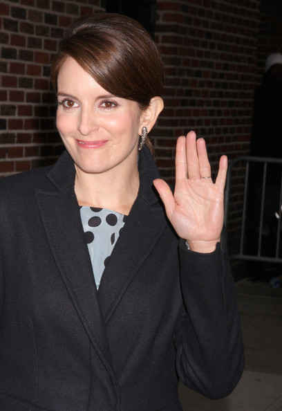 Tina Fey Dangling Diamond Earrings