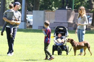 Tom Brady Benjamin Brady Tom Brady & Family Spend Father's Day At The Park