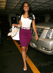 Tracey carried her white espadrilles as she left the nail salon in Beverly Hills.