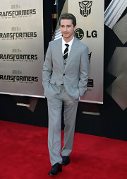 Shia LaBeouf chose a classy gray three-piece suit for the premiere of 'Transformers: Revenge of the Fallen.'