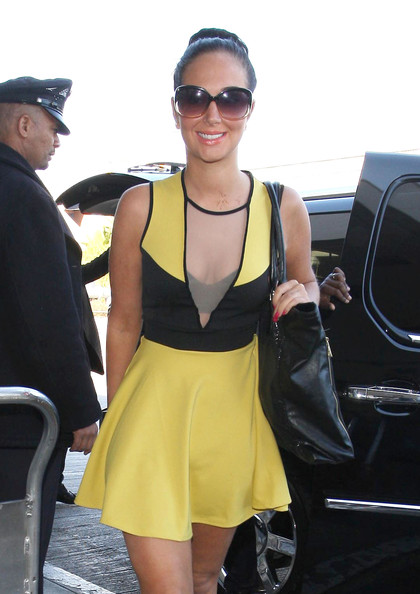 Tulisa Contostavlos Cutout Dress
