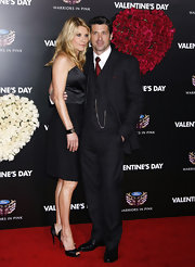 Patrick Dempsey looked dapper in a pinstriped suit.
