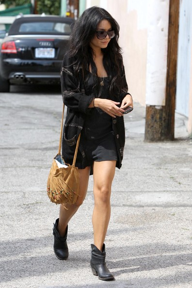 Vanessa Hudgens Leather Messenger Bag