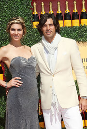 Nacho Figueras' white scarf was a smart finish to his ensemble at the Veuve Clicquot Polo Classic.
