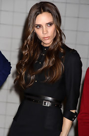 Victoria Beckham attended the Britain's Great Launch in NYC wearing her hair in shiny waves.