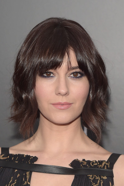 Mary Elizabeth Winstead was punk-chic with her short wavy cut and heavily lined eyes at the New York premiere of '10 Cloverfield Lane.'