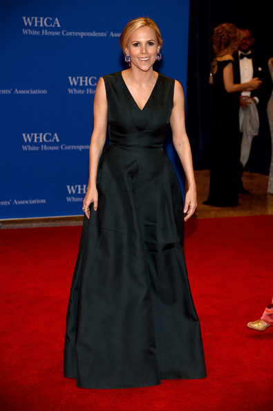 Tory Burch donned a lovely black V-neck gown for the White House Correspondents' Association Dinner.