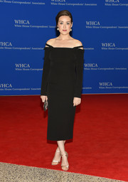 Megan Boone kept it classic and sophisticated in an off-the-shoulder LBD during the White House Correspondents' Association Dinner.