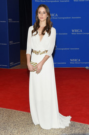 Troian Bellisario went for boho elegance in this floaty gown during the White House Correspondents' Association Dinner.
