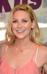 Stephanie Pratt chose a very natural hair look at Wango Tango when she opted for a straight cut.