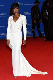 Regina King got all glammed up in an embellished fishtail gown for the White House Correspondents' Association Dinner.