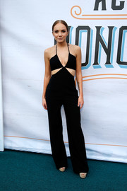 Danielle Bradbery sizzled in a black cutout jumpsuit at the ACM Honors.