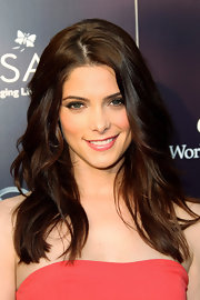 Ashley Greene opted for full waves and a subtle center part for the Annual Butterfly Ball.