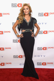 Paris Hilton rocked an embellished black cutout gown by SemSem at the Delete Blood Cancer Gala.