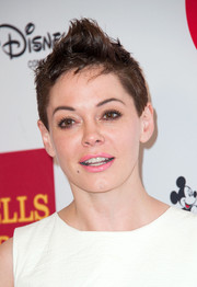 Rose McGowan styled her hair into a towering fauxhawk for the 2014 GLSEN Respect Awards.